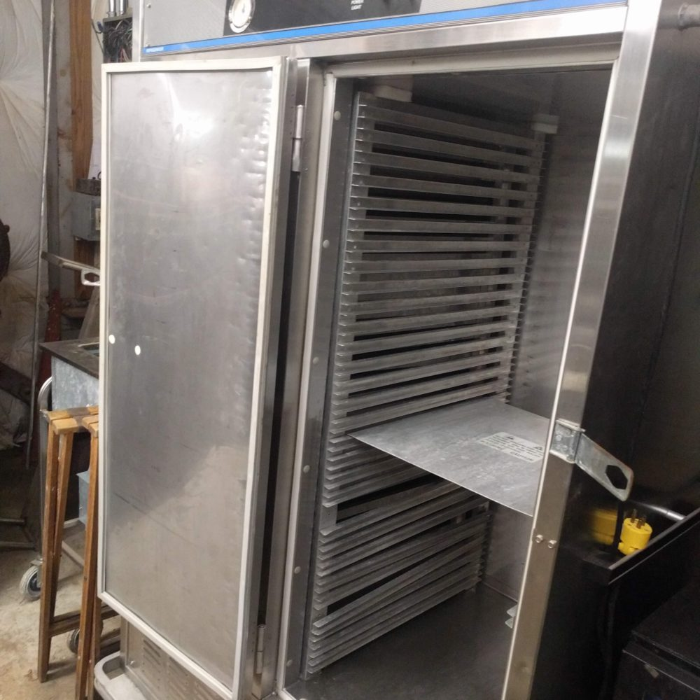 inside view Used Carter-Hoffmann Mobile Catering Fridge
