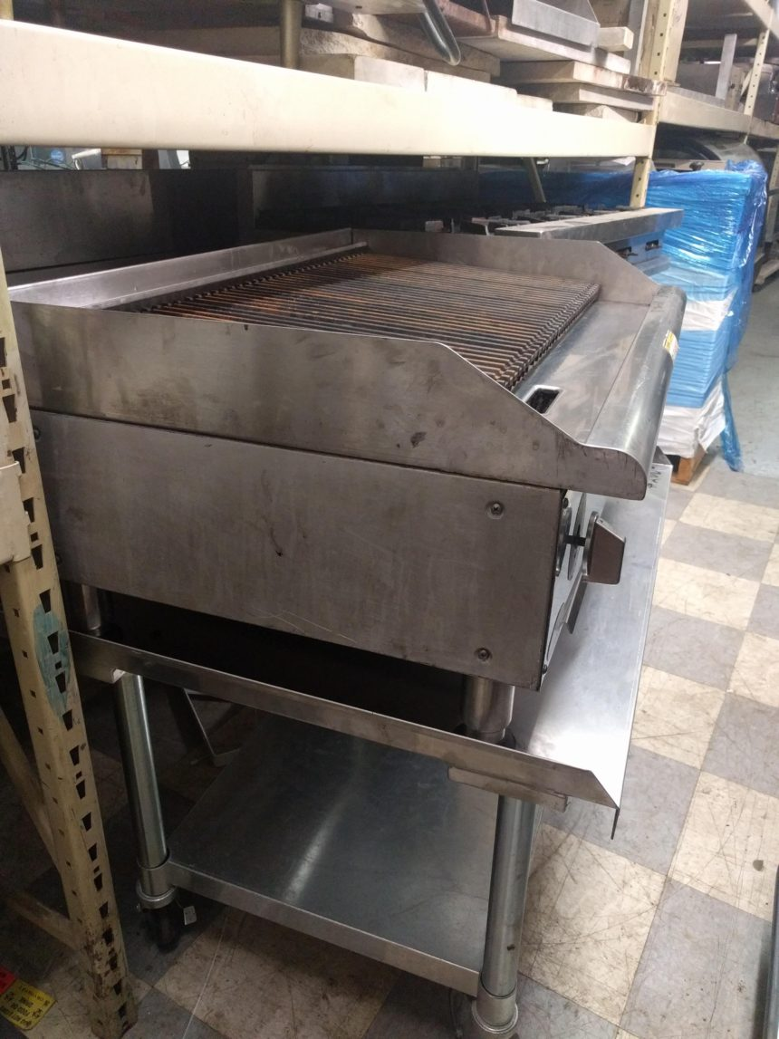 """side view Used 36"""" Char Grill"""