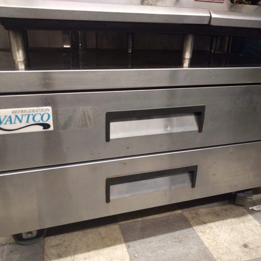 front view Used Avantco 178CBE52 Chef Base Refrigerator