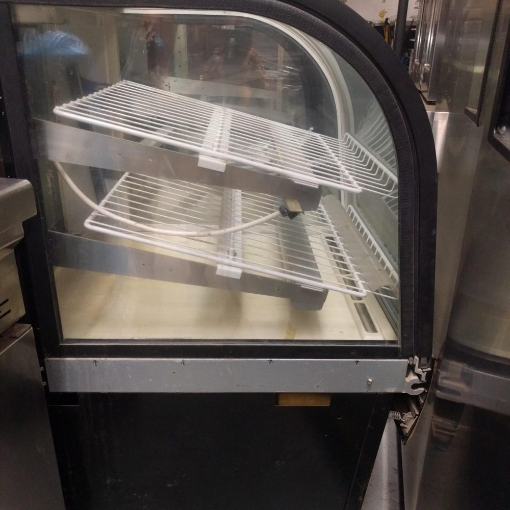 side view Used Federal Bakery Display Case- Half Refrigerated