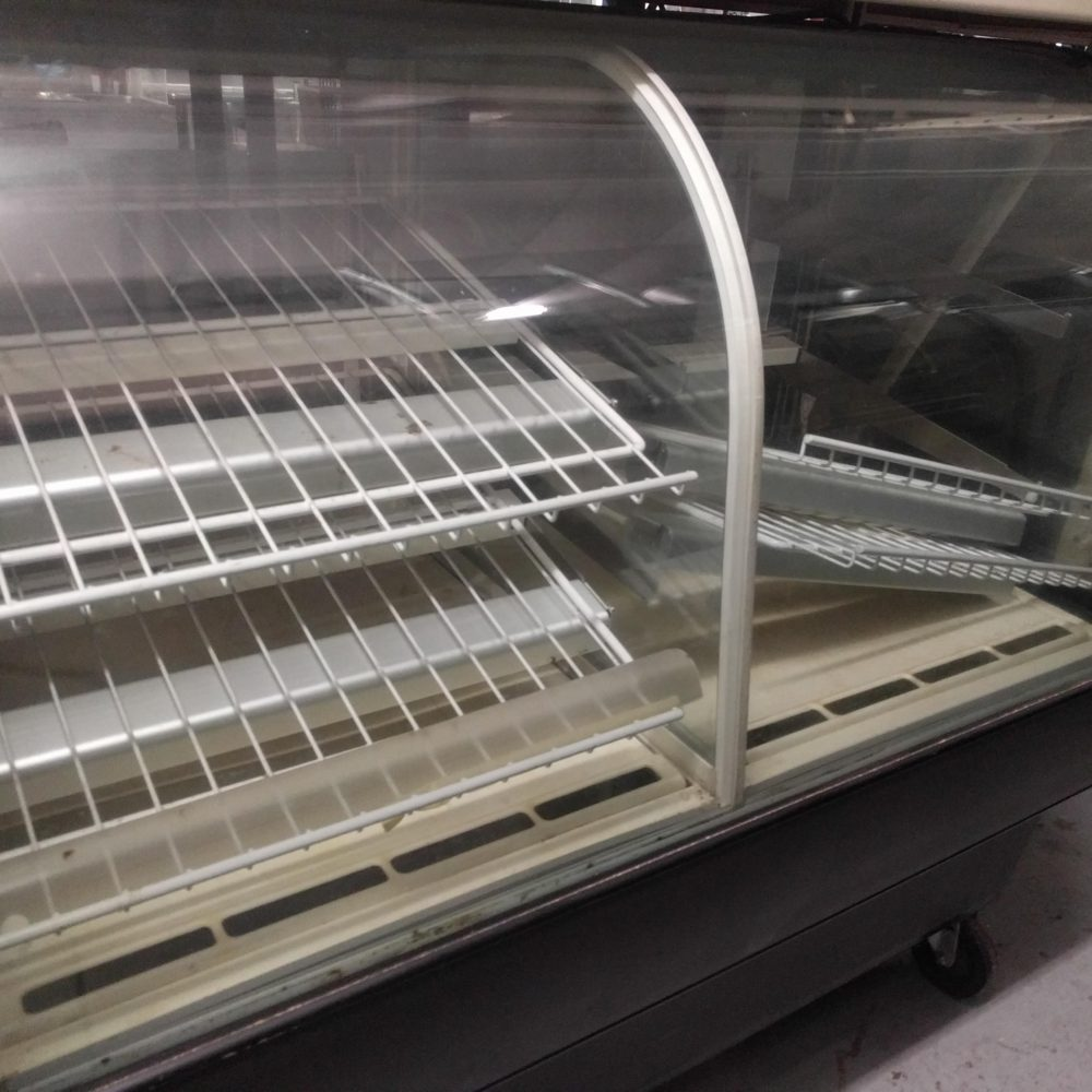 front view Used Federal Bakery Display Case- Half Refrigerated