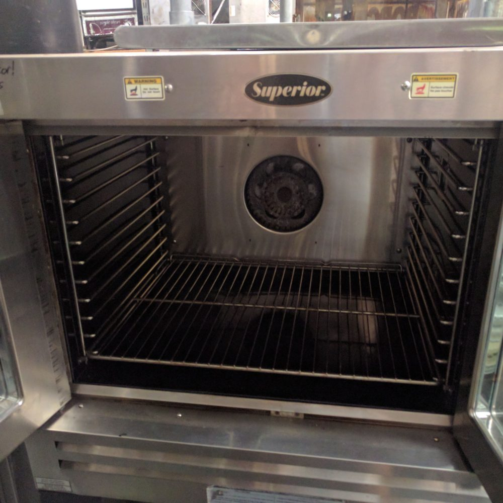 inside Used Bakers Pride Convection Oven