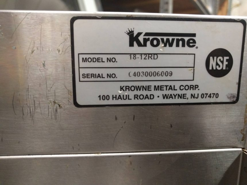 data plate Used 4-Tiered Stainless Steel Liquor Rails #18-12RD