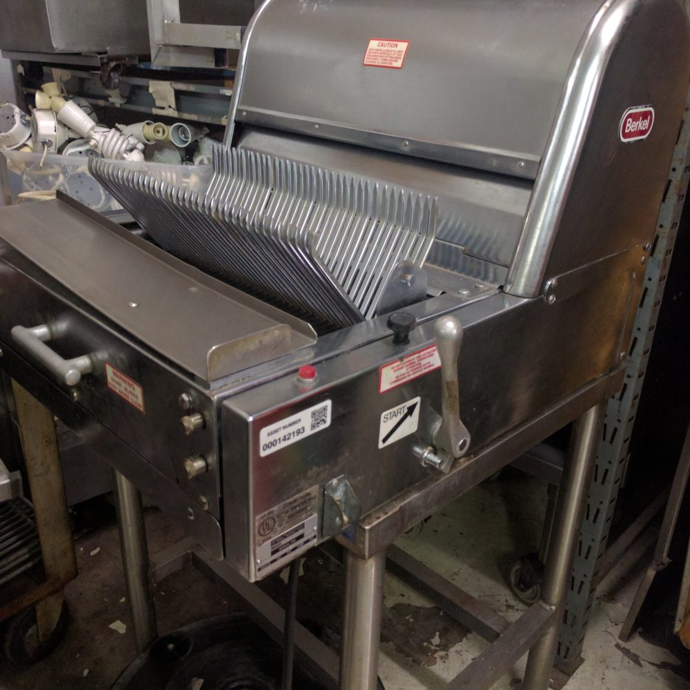 full view Used Berkel Bread Slicer #7/16