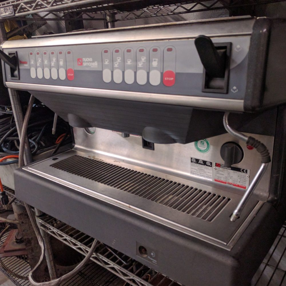 side view Used Nuova Simonelli Premier V Group 2 Espresso Machine