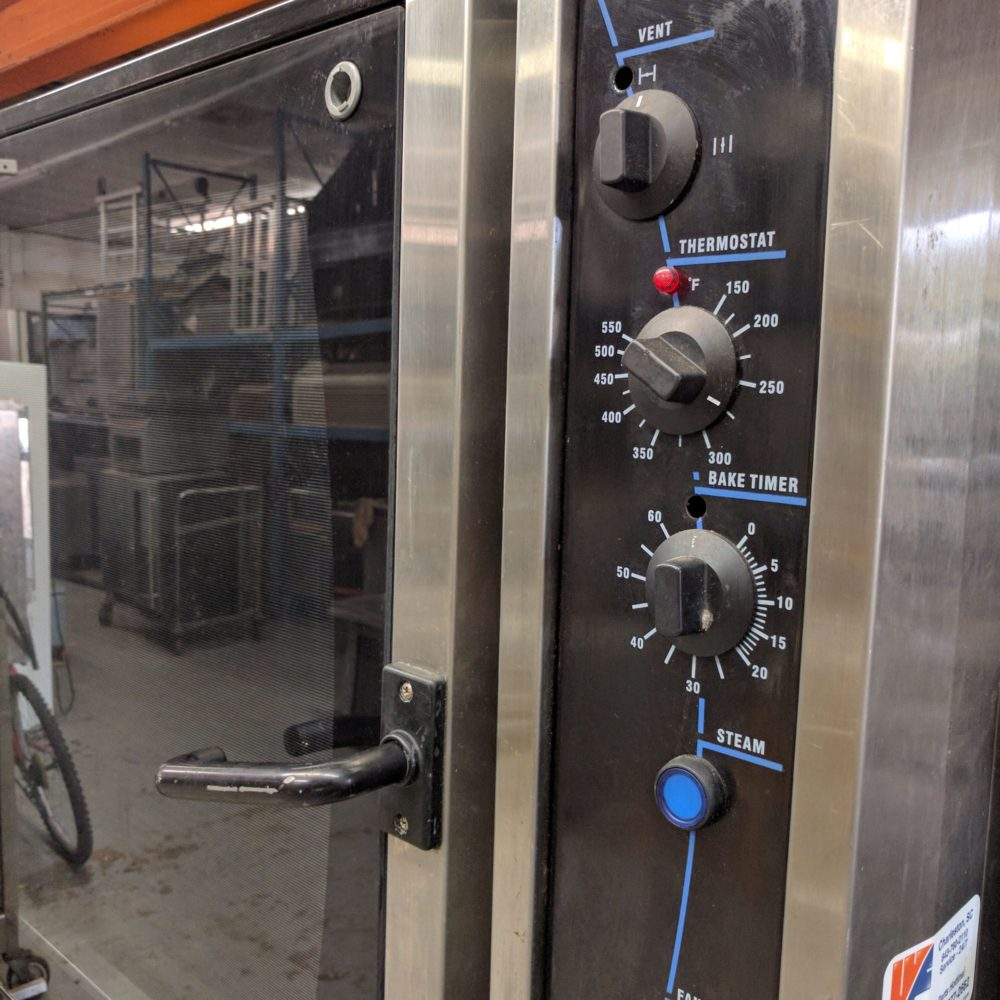 close up Used Turbofan Convection Oven E35
