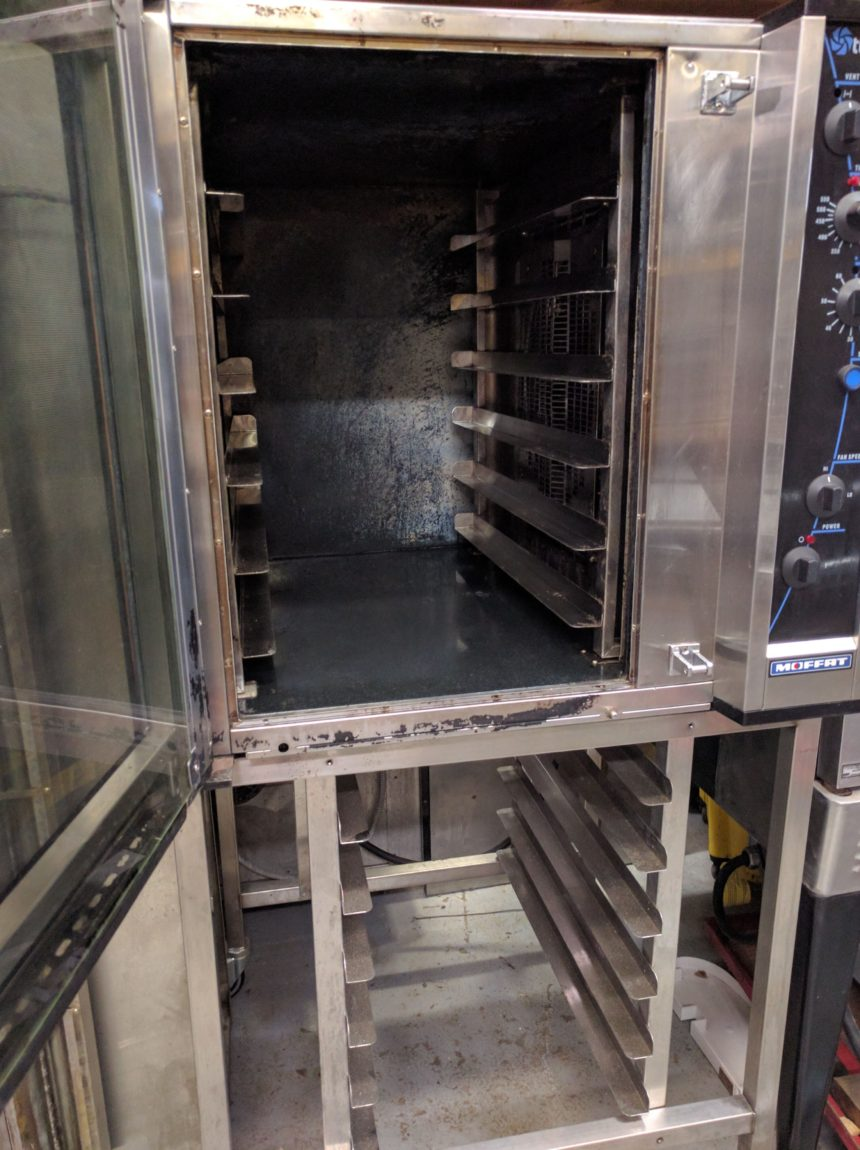 inside Used Turbofan Convection Oven E35