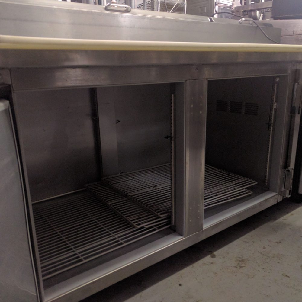 """inside view used 67"""" Beverage-Air DP67 Pizza Prep Unit"""