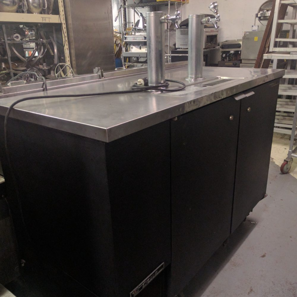 side view Used True TDD-2 Keg Cooler