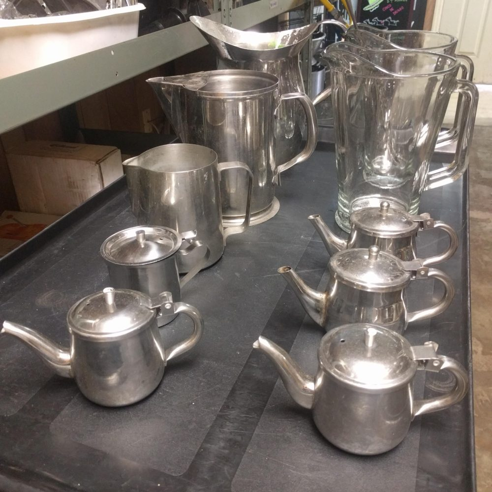 Used Pitchers and Creamers