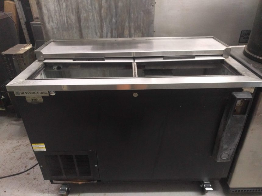 front view Used Beverage-Air DW49-B Bottle Cooler
