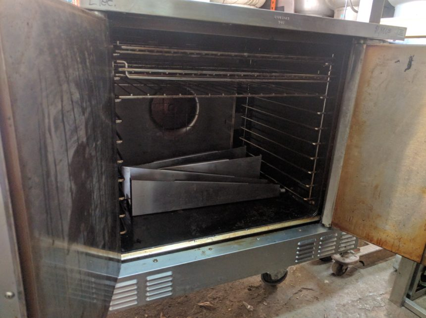 inside Used Garland SCO-ES-10S Convection Oven