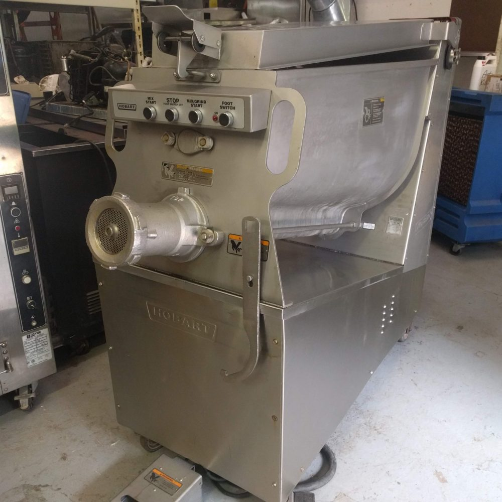 full view Used hobart MG2032 meat grinder