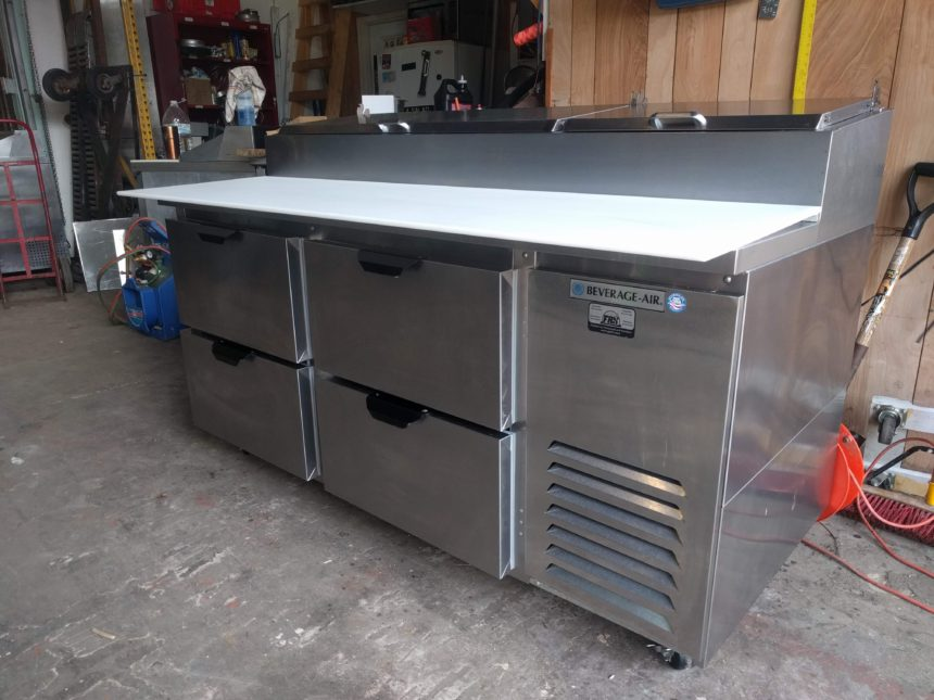 full view NEW Beverage-Air DPD67-4 Pizza Prep