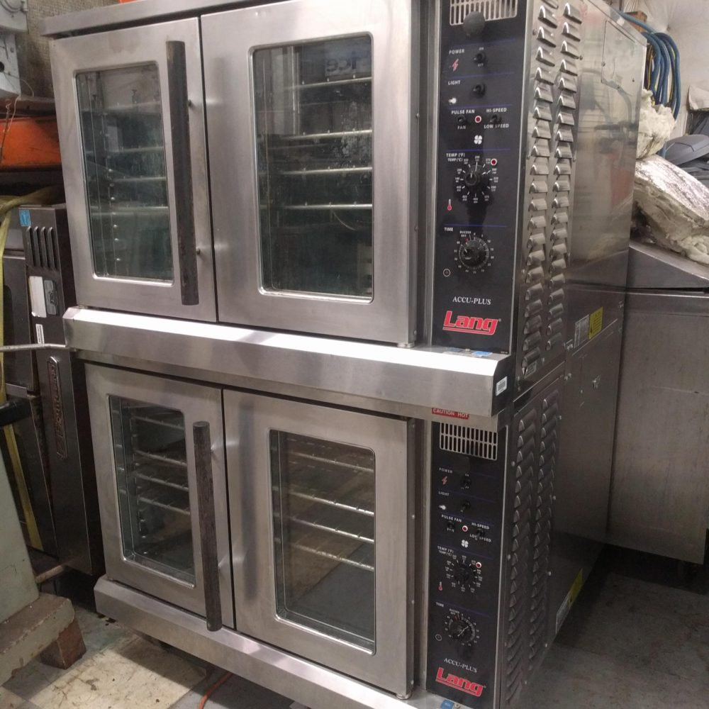 Used Set of Lang ECOF-AP Convection Ovens