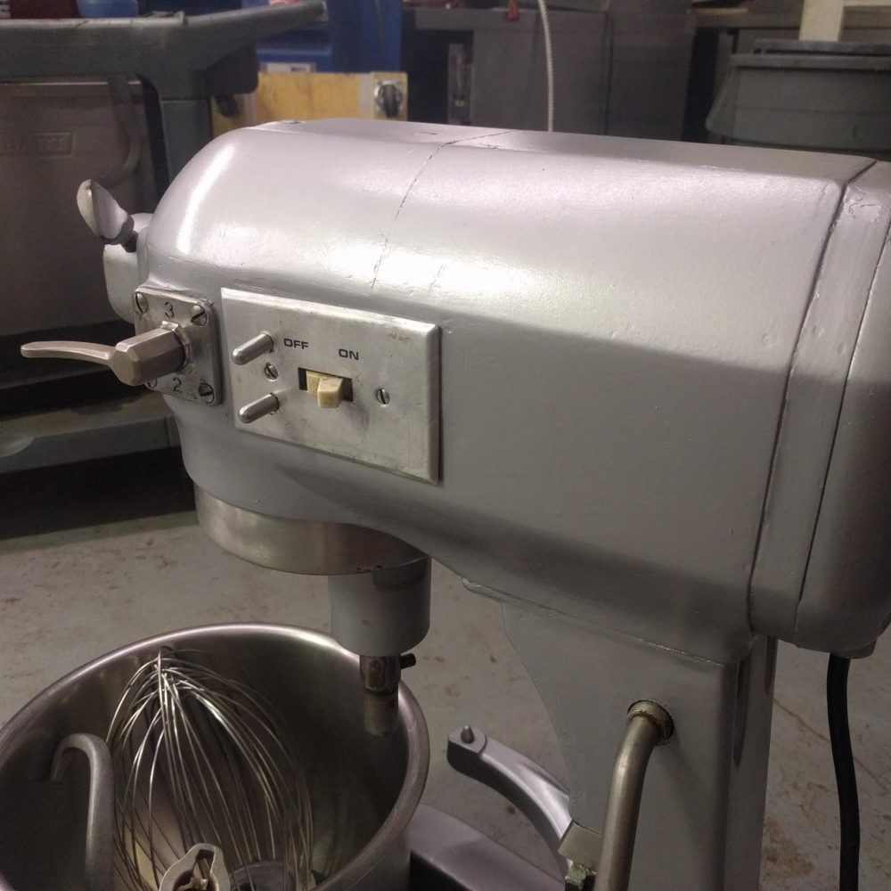 close up Used Hobart A-200 Table Mixer