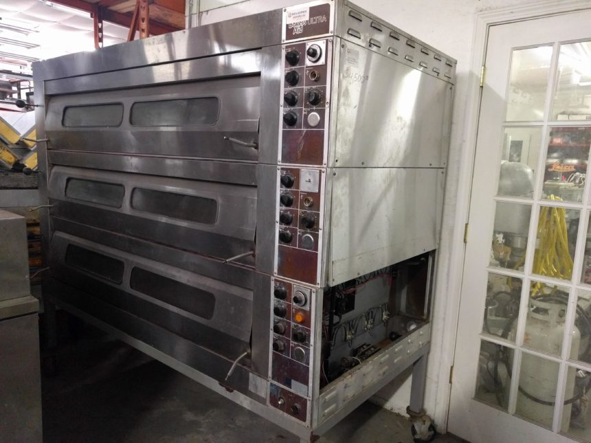 full view USED Bakers Aid ULTRA Triple Deck Oven