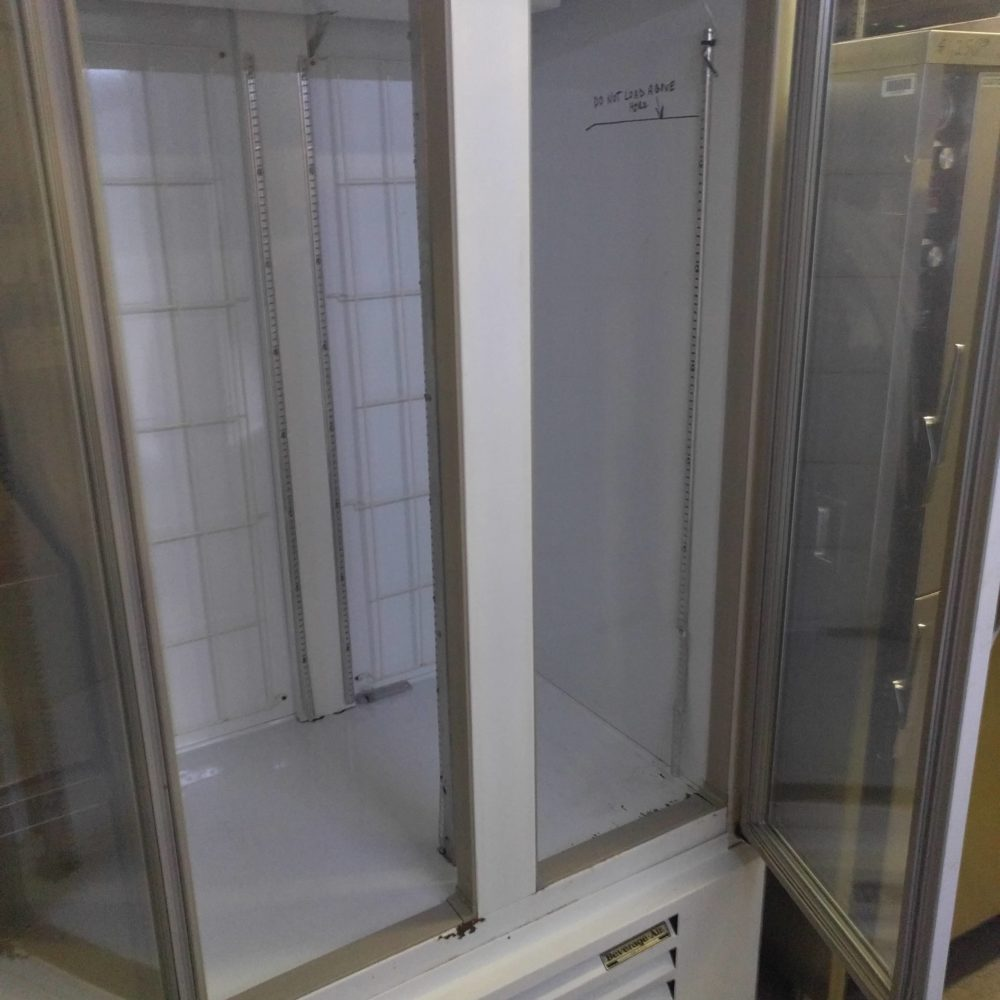 inside Used Beverage Air CFG36-1 Freezer